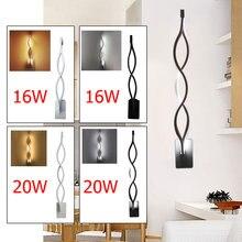 Pared de aluminio moderna del LED lámpara espejo onda creativa corredor TV  Fondos Iluminación blanco caliente blanco bde11f871bd1