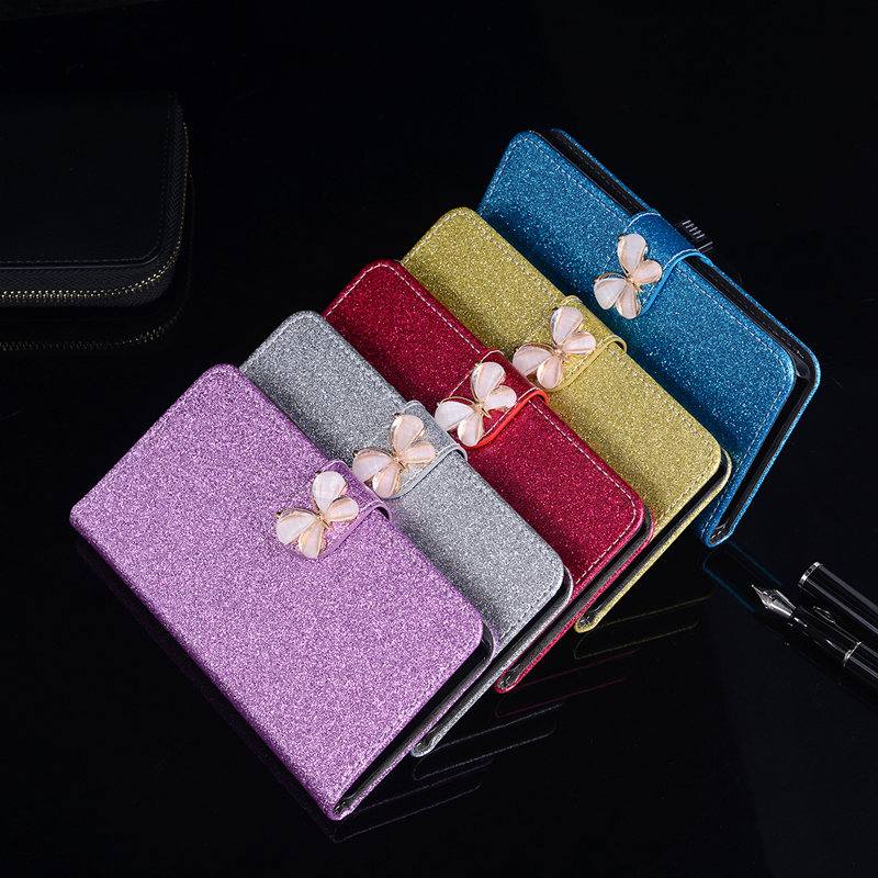 Glitter Coque For HTC One X9 5.5inch Case Leather Soft Silicone Back Cover Butterfly Jewelled Floral Original Flip Phone Case
