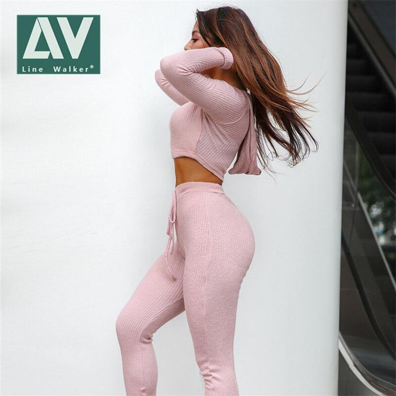 Ligne Walker Gym vêtements Yoga ensemble Fitness sport ensemble entraînement vêtements pour femmes survêtement haut + pantalon Sportswear