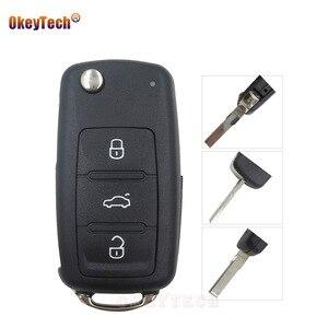 OkeyTech 10 шт./лот для VW Polo Passat B5 Tiguan Golf Volkswagen Seat Skoda Switchblade откидной Складной автомобильный чехол для ключей хорошая доставка