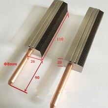 DIY 150 200mm ordenador de escritorio CPU GPU enfriador de refrigeración disipador de calor tubo de calor de cobre aletas de aluminio radiador, personalizar la longitud