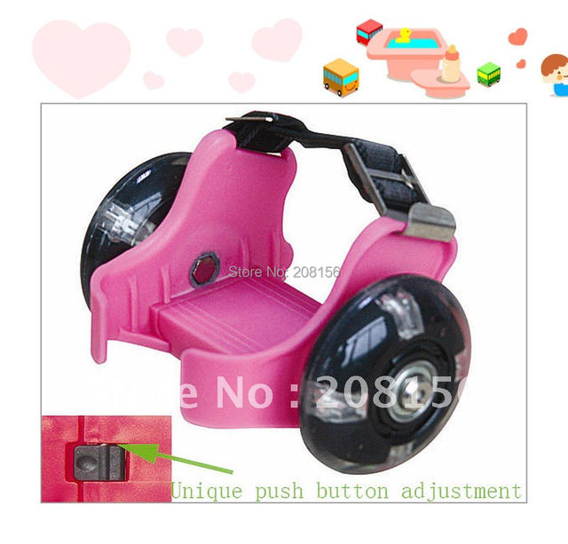 Skates For Sale >> Us 44 0 Roller Skates For Sale With Unique Push Button To Change Size Easy Sh89 Pu Pink Free Shipping In Flashing Roller From Sports