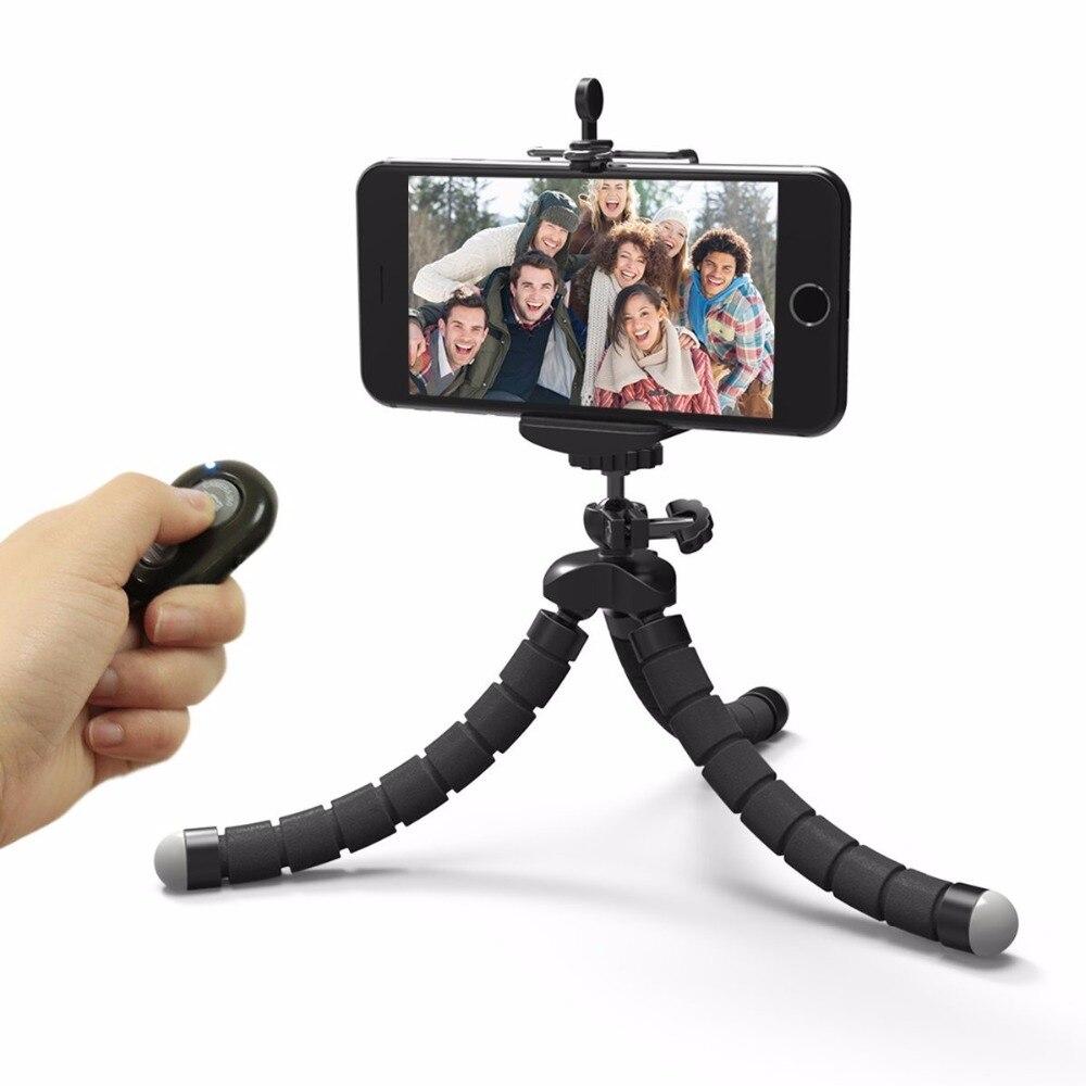 Hot sales Mini Flexible Camera <font><b>Phone</b></font> Holder Flexible Octopus <font><b>Tripod</b></font> Bracket Stand Holder Mount Monopod Styling Accessories