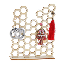Honeycomb Jewelry Display Necklace Earring Bracelet Holder Organizer Stand Creative Storage Racks