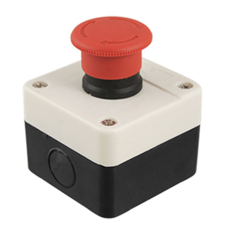 High Quality Red Sign Mushroom Emergency Stop Push Button Switch Station 1 NC Normally Closed red sign mushroom emergency stop push button switch station 1 nc normally closed