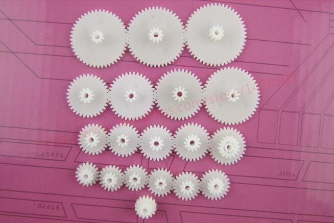 19 Pcs General Plastic Gear Set Double Deck Deceleration DIY Reduction Gear