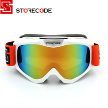 StoreCode Brand Ski Goggles Double Lens Anti-Fog UV400 Snowboard Glasses Men Women White Frame Skiing Snow Goggles Set S505