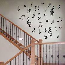 hot selling 28 Vinyl MUSIC Musical NOTES Variety Pack Wall Decor Decal Sticker On Wall Decal Sticker Home Decor Art Mural,y2002(China)