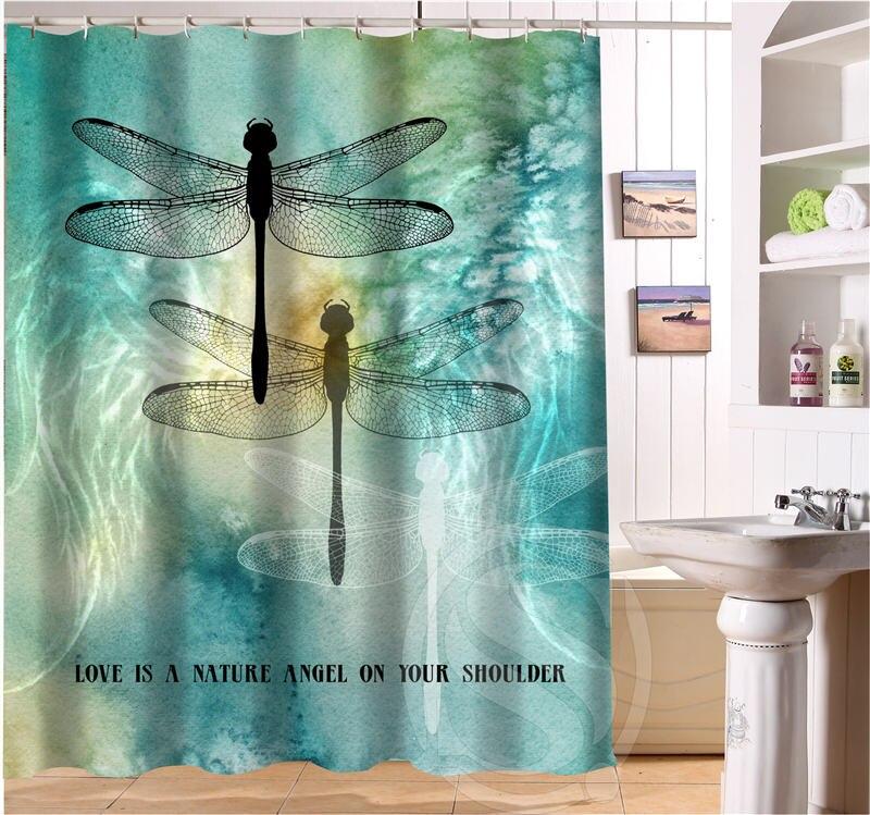 colour dragonfly custom shower curtain bath curtain waterproof curtain for bath roomchina