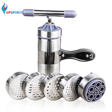 Upspirit Manual Pasta Noodle Maker With 5 Pressing Mold Stainless Steel Noodle Pasta Spaghetti Maker Kitchen Dough Press Machine