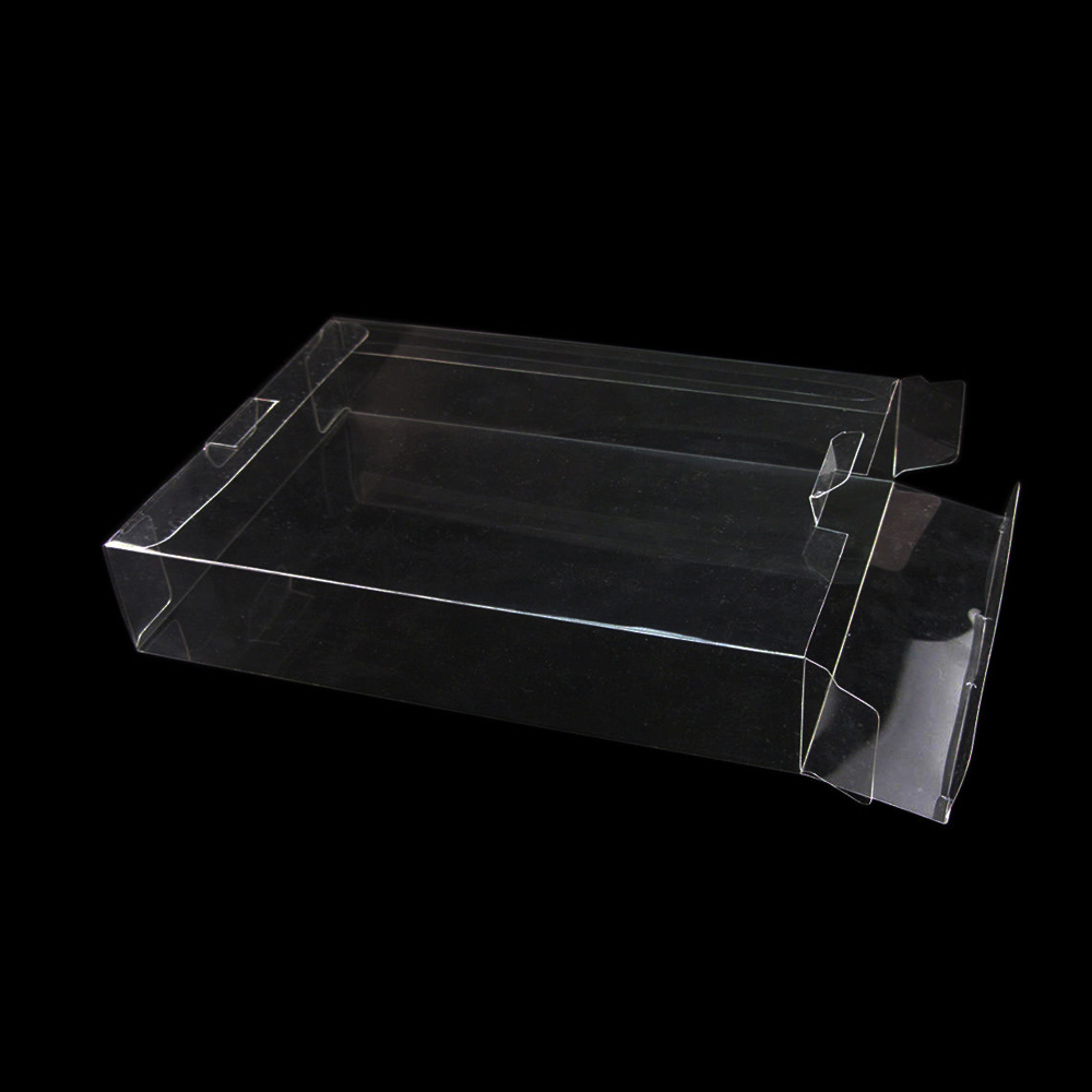 FZQWEG Clear Clear transparent Box Case Sleeve CIB Protector For SNES N64 Games Cartridge Box image