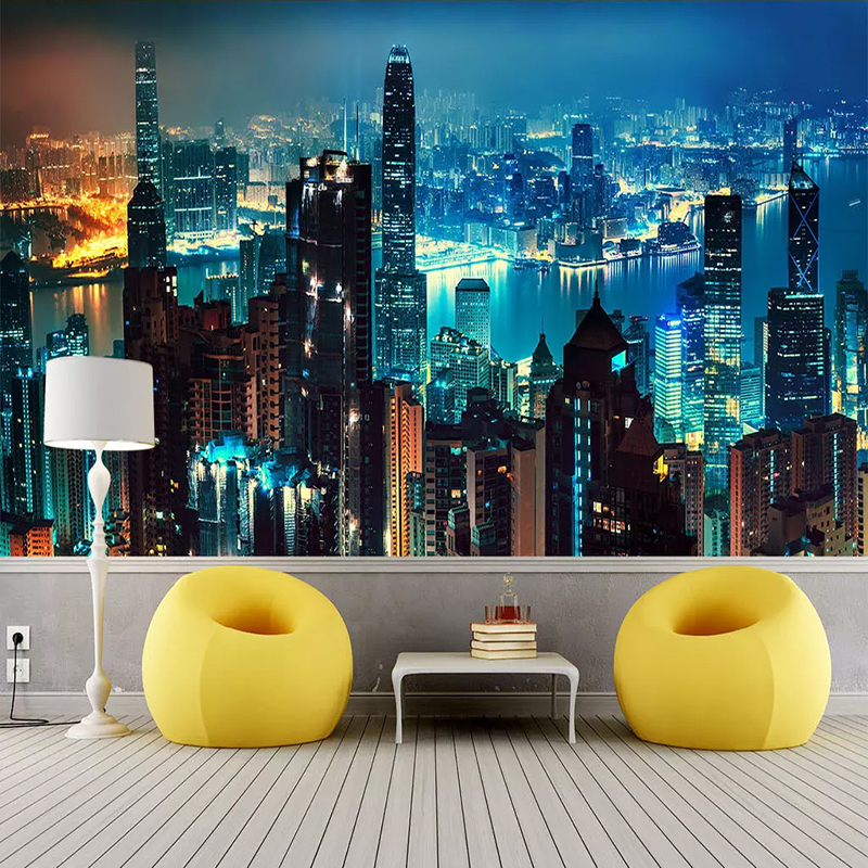 City Building Scenery Custom 3D Photo Wallpaper For Bedroom Walls 3D Modern Living Room Sofa TV Background Wall Mural De Parede