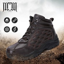 MUMUELI Black Brown New 2019 Designer Casual Snow Men Shoes High Top Quality Fashion Luxury Male Boots Flat Brand Sneakers 8022