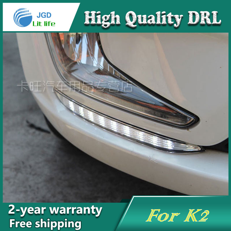 Free shipping !12V 6000k LED DRL Daytime running light case for KIA K2 2010-2012 fog lamp frame Fog light Car styling free shipping 12v 6000k led drl daytime running light case for subaru wrx 2015 2016 fog lamp frame fog light car styling