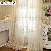 Embroidered Tulle Curtains European Designs Window Tulle Home Decoration Flower Pattern Luxury Voile Curtains Wp368 30