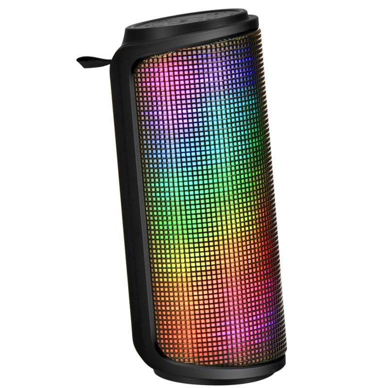 LENRUE Bluetooth Speaker Waterproof Player Shockproof Dustproof Subwoofer LED Light Outdoor Wireless Speaker 1500MAH Stereo цена