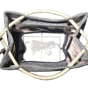 Image 4 - Mode femmes lin sac à main grand Shopping fourre tout vacances grand panier sacs été plage sac tissé plage sac à bandoulière JXY550