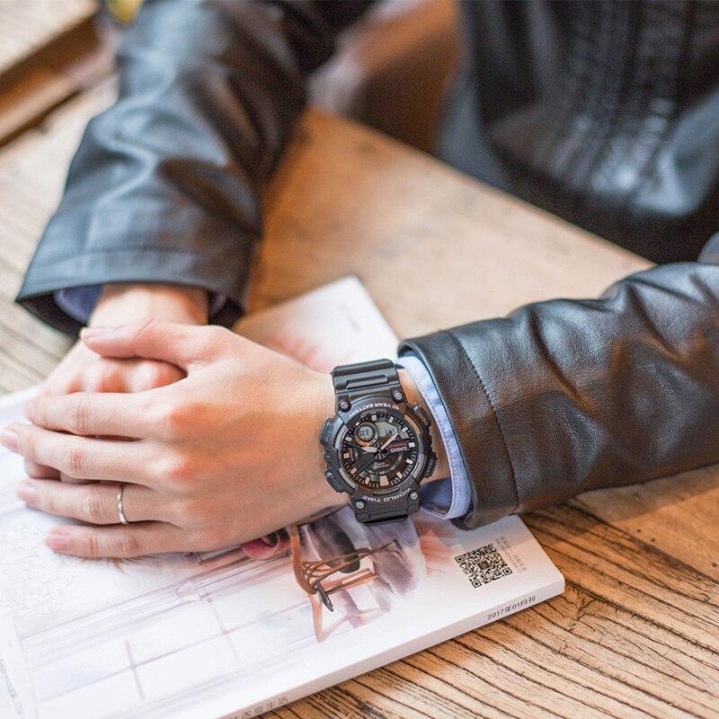Casio Часы спортивные серии Смарт двойной дисплей многофункциональные электронные мужские часы AEQ 110W 1A - 4