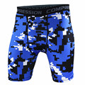 Costuras de color azul Más Nuevo de alta calidad de Secado rápido Hombres Shorts de Compresión Medias Elásticas Cortocircuitos Cortocircuitos Ocasionales de los hombres 2017