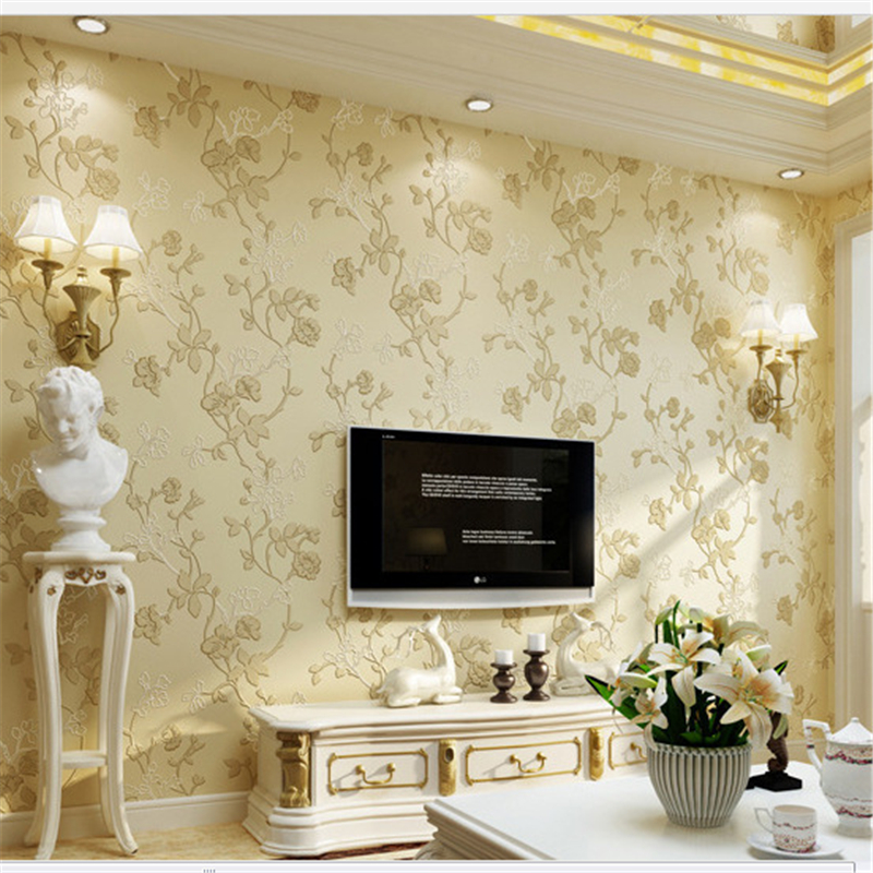 ФОТО Beibehang  European garden vines 3D non - woven wallpaper TV background wallpaper bedroom living room wallpaper for walls 3 d