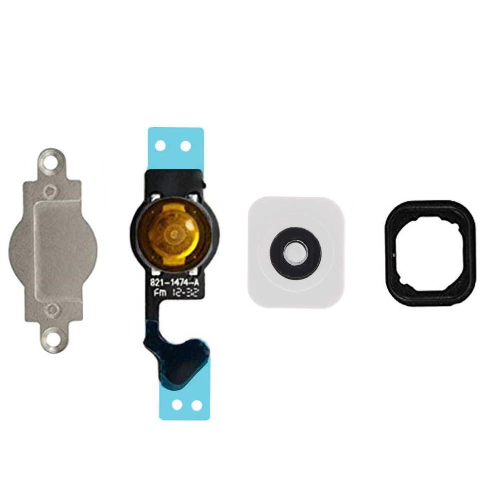 HOUSTMUST dla iPhone 5 5c 5S SE przycisk Home Flex Menu przycisku Home z gumowa uszczelka + metalowy uchwyt