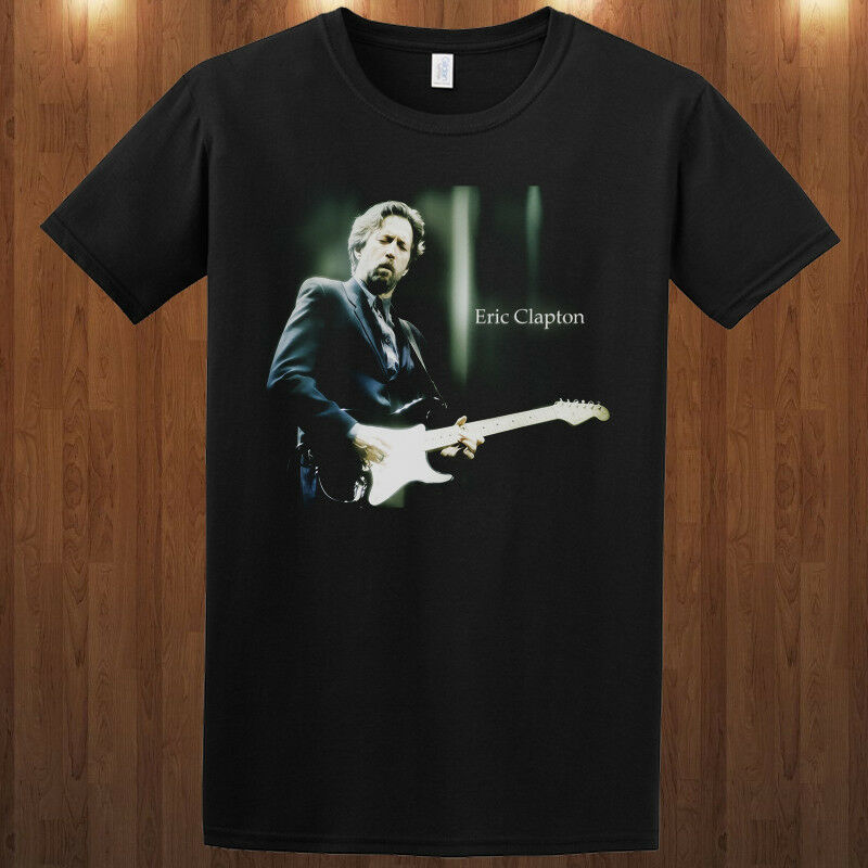 Eric Clapton T-shirt Rock & Blues Guitarist Singer & Songwriter S-3XL Tee O Neck T Shirt Short Sleeve Top Tee Plus Size image