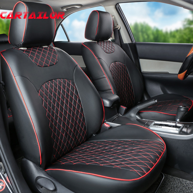 CARTAILOR Car Seat Cover PU Leather Seats For Toyota Corolla 2014 2016 2017 Covers