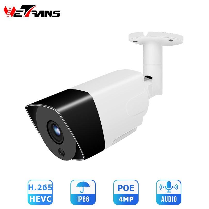 Wetrans IP Camera Outdoor HD 4MP Security Cam Onvif H 265 POE CCTV Camera Home Surveillance