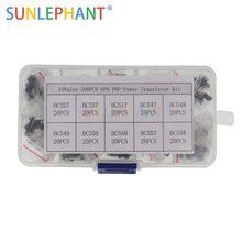 Bc327 bc337 bc517 bc547 bc548 bc549 bc550 bc556 bc557 bc558 transistor variedade kit 10 valor 200 peças, transistores caixa pacote