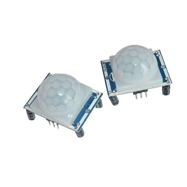 Freies verschiffen Hohe qualität 2 STÜCKE HC-SR501 HCSR501 SR501 menschliche infrarot-sensor-modul pir-sensor importe sonde