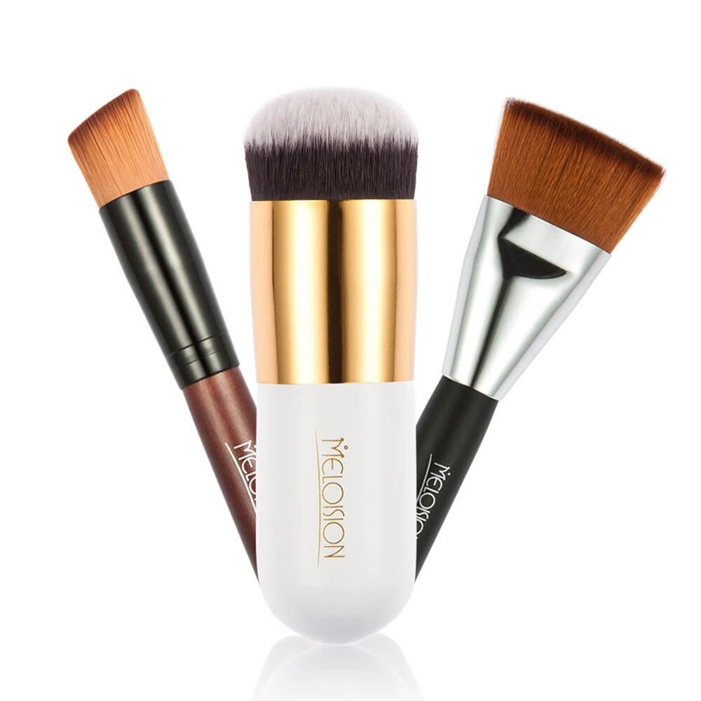 New 3PCS/Set Foundation Blush Contour Brush BB Cream Powder Make Up Brushes Wood Handle Fiber Bristles Cosmetic Make up Tool