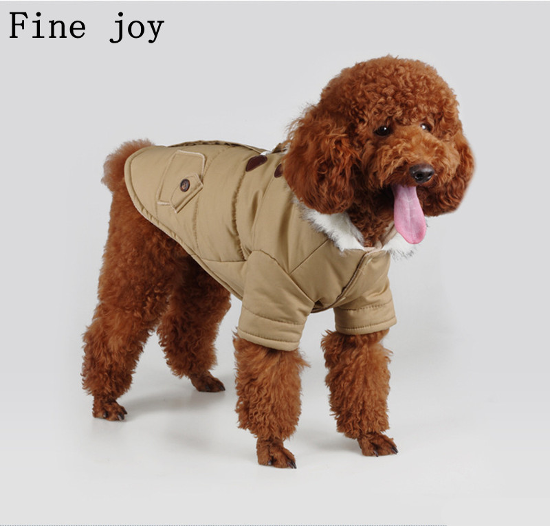 fine joy Dog Clothes Autumn Winter Clothing For Dogs Teddy Hoodie Warm Coats Horn button Puppy Pug Bulldog Cats
