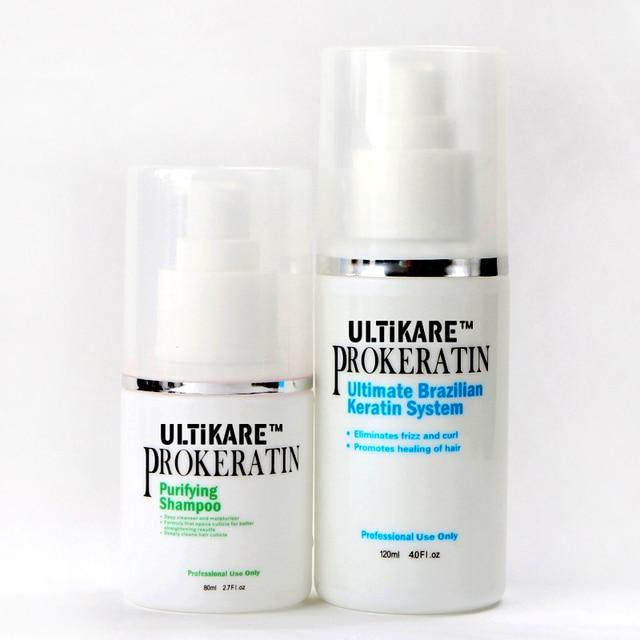 Cheap 120ml  Mini Brazilian Keratin Treatment +80ml purfying shampoo  straightening hair product  free shipping