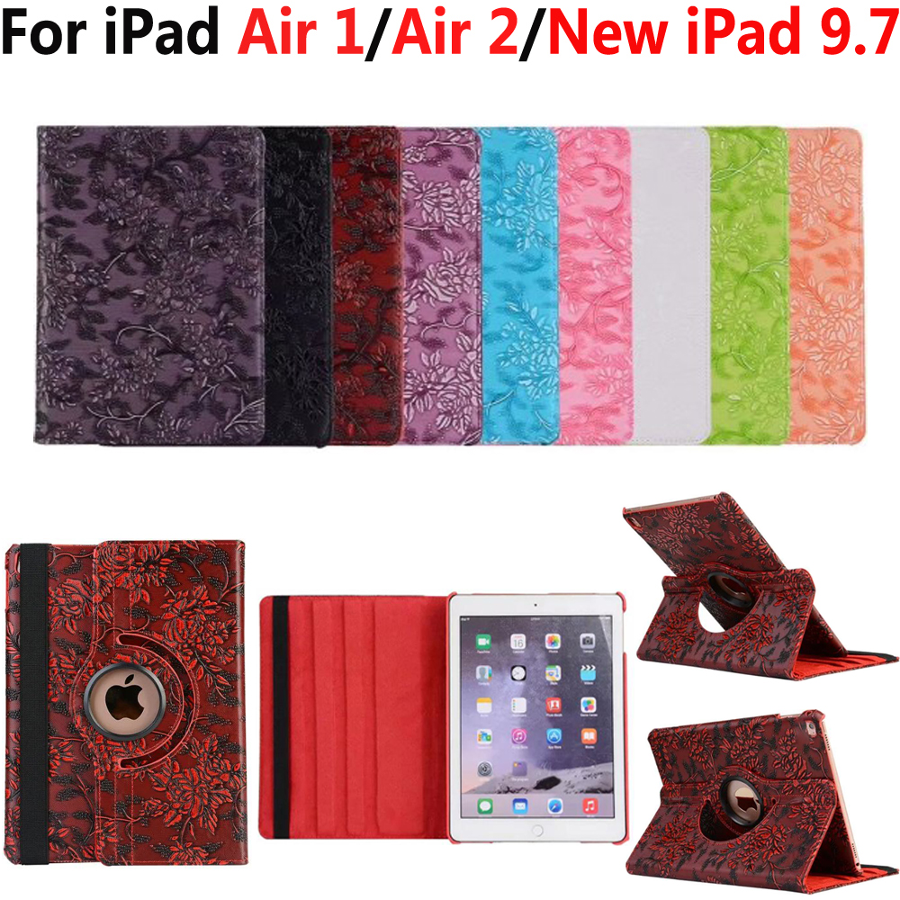 3D Print 360 Degree Rotating Case for New Apple iPad 9.7 2017/2018 5th/6th Generation Smart Cover for iPad Air 1/Air 2 iPad 5/6 стоимость