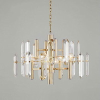 Summary of gold design modern crystal chandeliers CONDUCTED light kristal kroonluchter dining room hang lamp AC 100 240V