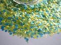 G436 Matte Neon Solvent Resistant Dots Glitter Mix Nail Polish Glitter Mix for Nail Polish and Other DIY decoration