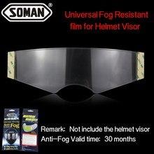 Parche antiniebla transparente para motocicleta, máscara completa genérica para K3 K4 AX8 LS2 HJC Marushin, lentes de cascos, visera antivaho