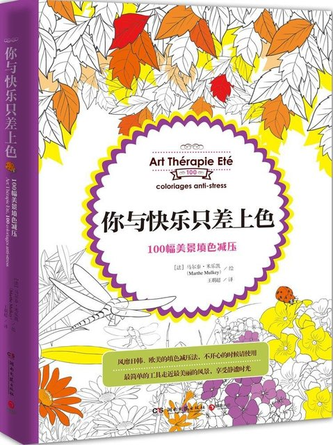 booculchaha art therapie ete 100 coloriages anti stress livre de coloriage pour adulte - Livre De Coloriage Anti Stress