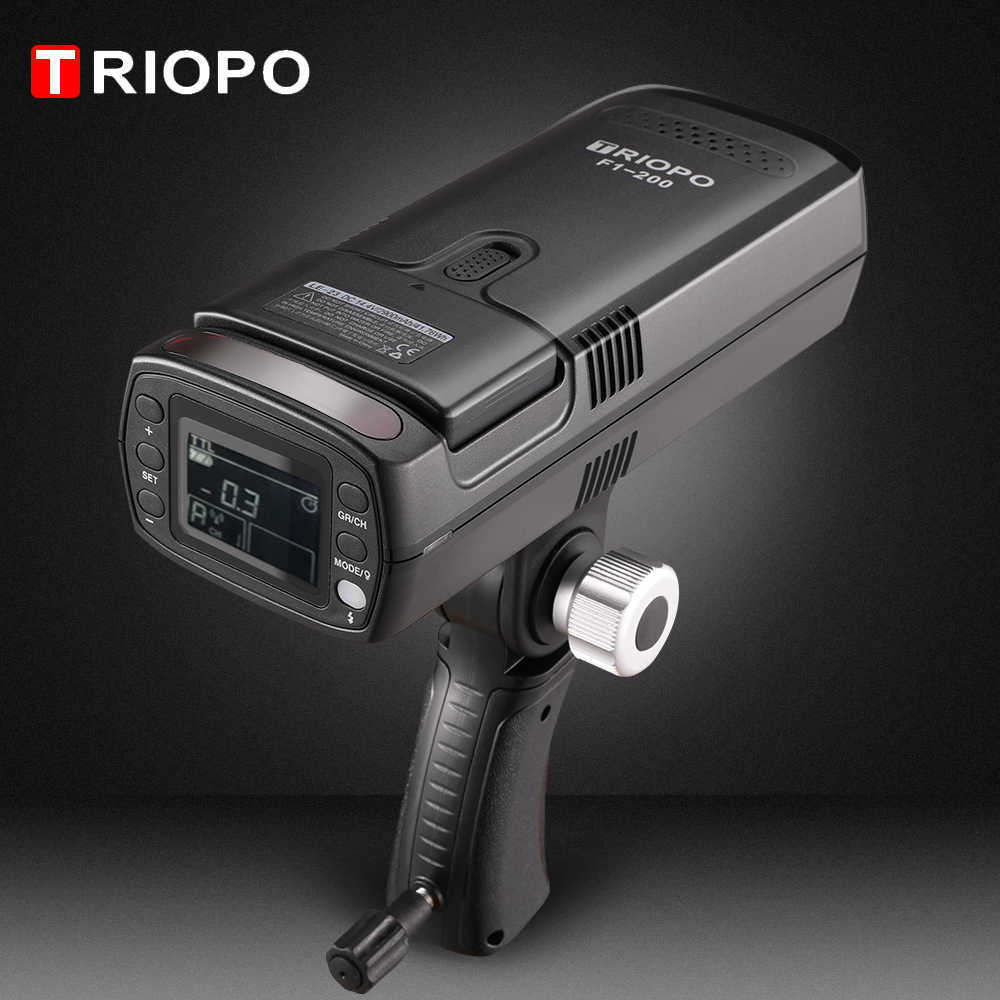 TRIOPO F1-200 ttl 2,4G HSS 1/8000 s Карманный открытый свет вспышки 200Ws с G1 триггером 2900 mAh литиевая батарея Фонарик PK AD200