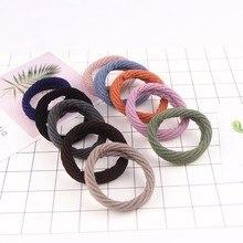 10PCS Mix Cotton Hair Bands Wave Pattern Elastic Girls Scrunchy Gum Rubber Band Hairgrip Women Accessories