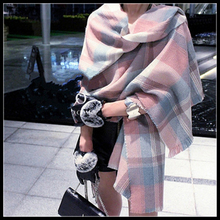 za desigual scarf women winter 2016 tartan bufandas mujer plaid Woman Shawls warm bufandas Pashmina Tassels 180*70cm