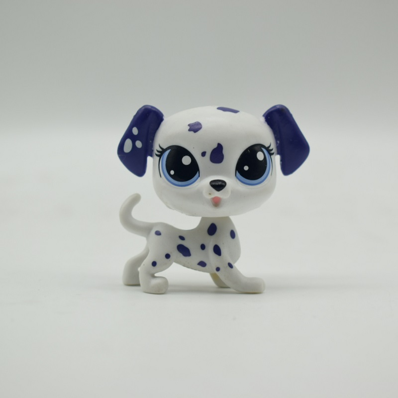 LPS Toy Pet Shop Sparkle Eyes Spotty dog Action Figure animal Toys for Children Birthday Gift цена и фото