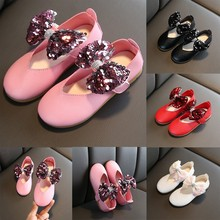 Children Kids Casual Shoes Baby Girls Comfortable Cute Crystal Bling Bowknot Single Princess Casual sapato infantil 2019