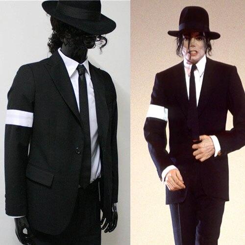 20b7981fa9391 Rare MJ Michael Jackson Black Dangerous Bad Suit Skinny Blazers Outerwear  Full Set For Fans Gift