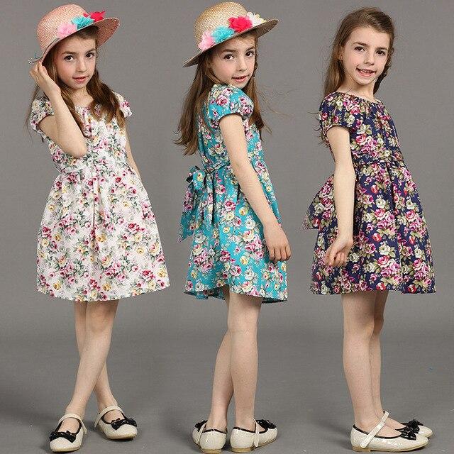 d10726150720 2017 new summer baby girls cute floral cotton princess dress 1-8age kids  children fashion European hot sale vestidos clothes 401