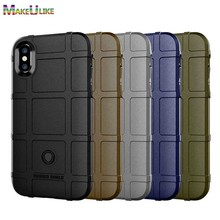 MAKEULIKE Thicken TPU Case For iPhone X XR XS Max 6 6S 7 8 Plus Cover Soft Armor Phone Bag Cases For iPhone X XR XS Max Cover цена и фото