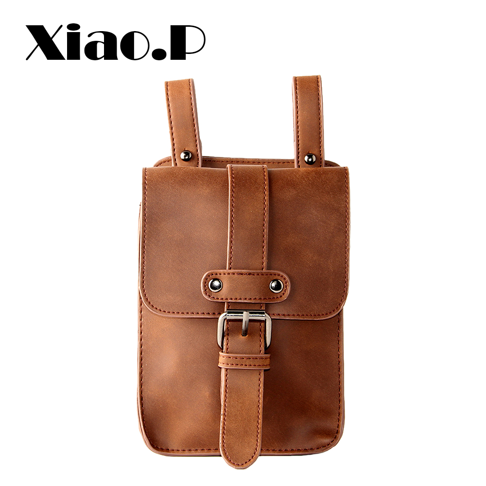 New Brand Men Crazy horse PU Leather Small Waist Pack Mobile Phone Case Travel Bags Small Men's Belt Bag Vintage Brown XP5641 аквабокс aquapac small stormproof phone case grey 045