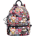 High Quality PU Leather Backpack Youth Cartoon Printing Laptop Backpack School Bag
