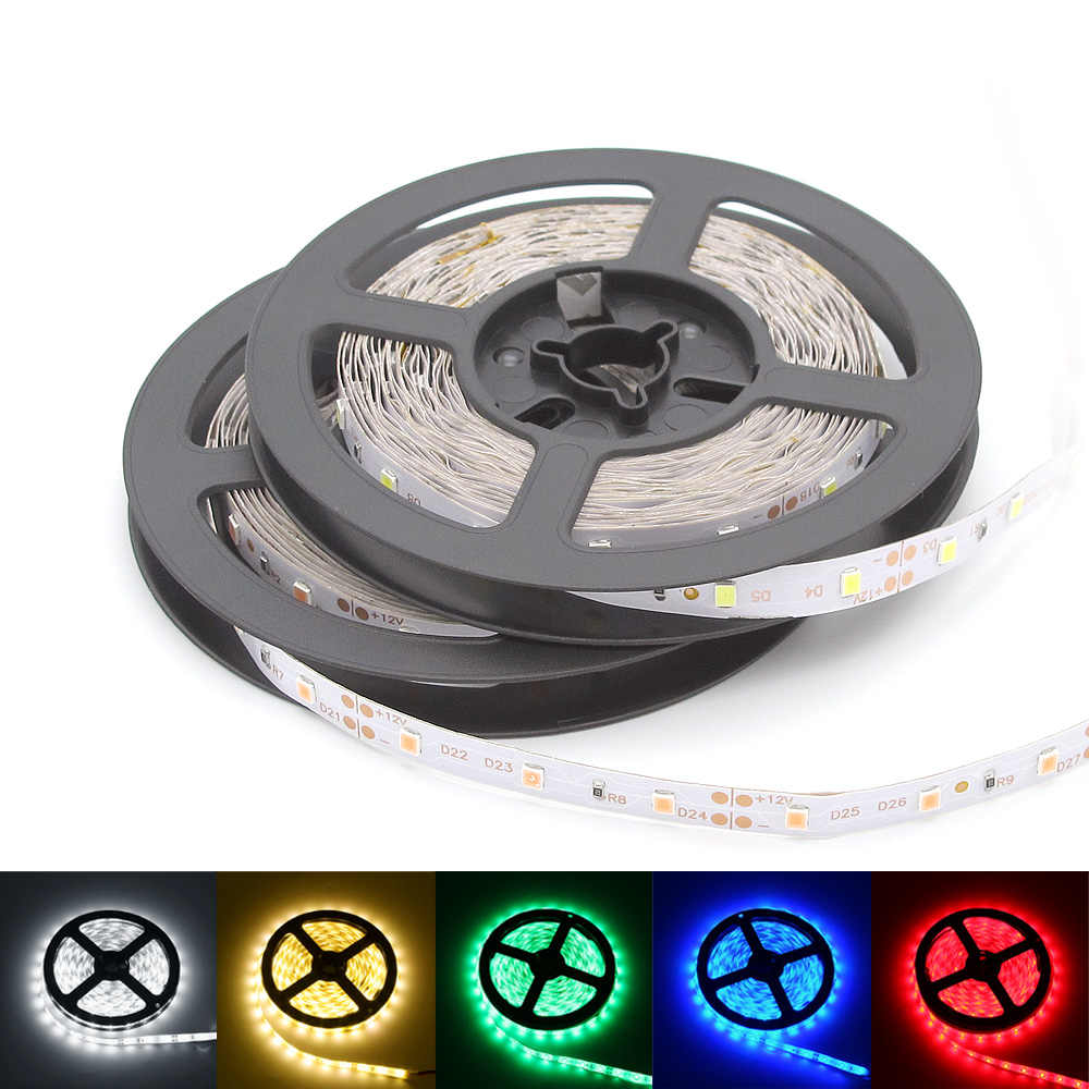 5M 16.5ft 300leds LED Strip Light Waterproof SMD 2835 Garland Gaskets DC 12V For Christmas Home Decoration Wire Tape Flexible