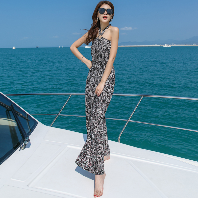 Tafforda 2018 Summer Beach Spaghetti Strap Body Suit Female Lanon Voile Casual Holiday S ...